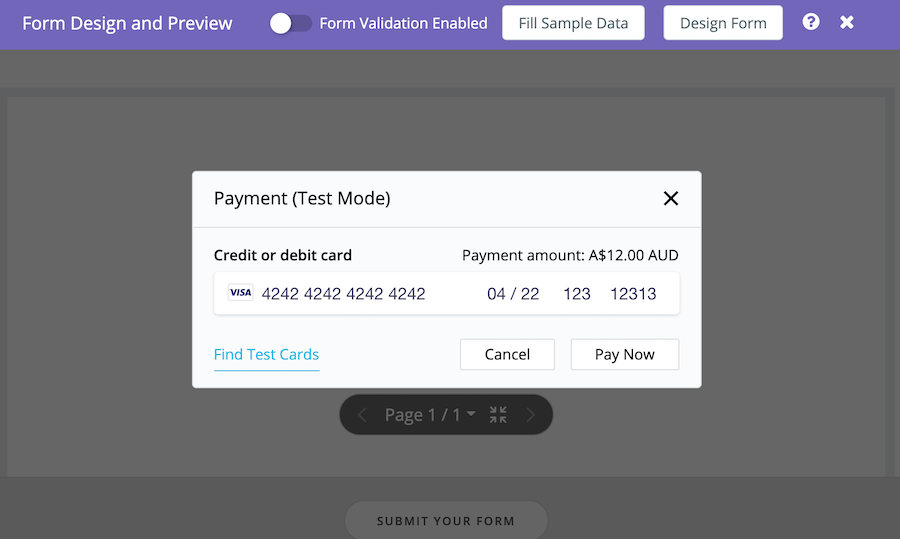 how to integrate PlatoForms with Stripe payment forms